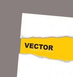 torn paper revela yellow vector image vector image