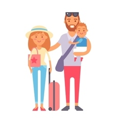 Vacation family vector image vector image