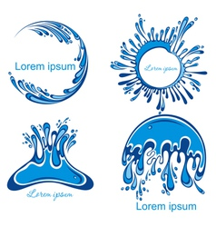 Water splashes collection vector image vector image