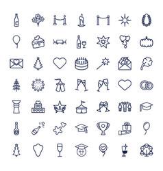 49 celebration icons vector