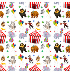 a seamless circus pattern vector image