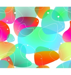 Abstract blobs water background vector