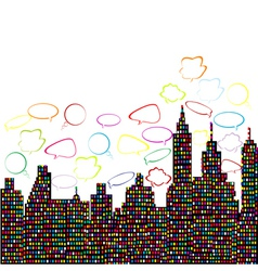 abstract colored city vector image