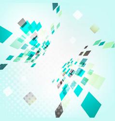 abstract geometric design - 3d explore square vector image