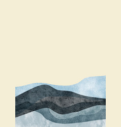 Abstract mountain landscape oriental style vector
