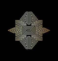 abstract symbol art gold on black background vector image