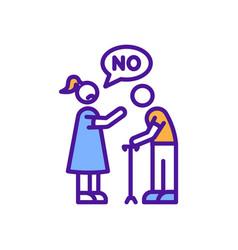 Age discrimination rgb color icon vector