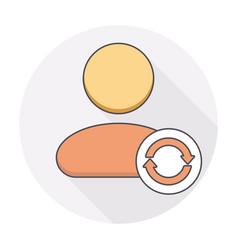 arrows refresh reload sync user icon vector image