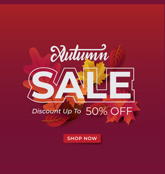 Autumn background sale vector