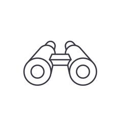 binoculars line icon concept binoculars vector image