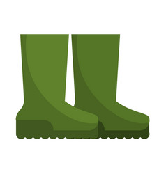 Boots rubber gardening image vector