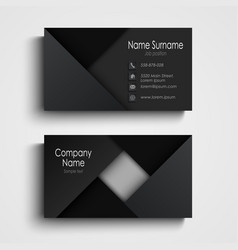 business card in black design with triangles vector image