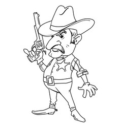 cartoon image of sheriff vector image