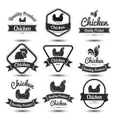 Chicken label 2 vector