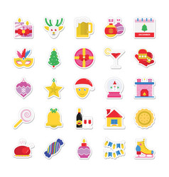 christmas and celebration colored icons 2 vector image