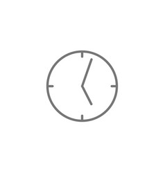 clock linear icon isolated on white background vector image