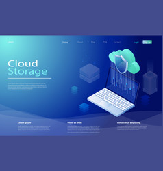 Cloud computing service storage network servers vector