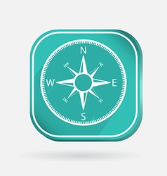Color icon compass vector