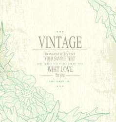 congratulation vintage background vector image