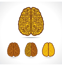 Different of Brain forming of arrows vector