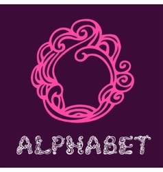 Doodle hand drawn sketch alphabet Letter O vector