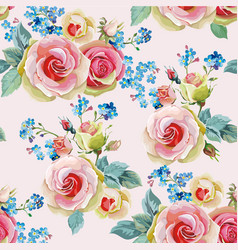 english roses seamless pattern vector image