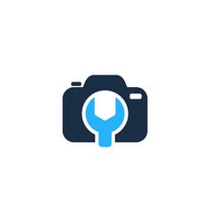 fix camera logo icon design vector image