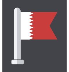 flat modern flag on sample background vector image
