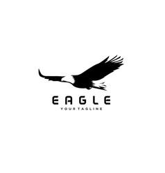 Fliying eagle bird logo design vector