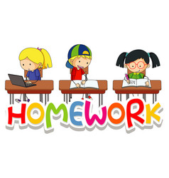 Cartoon Homework Vector Images (over 6,800)