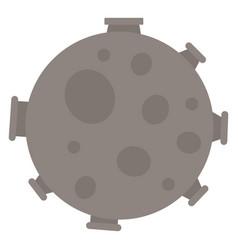 full moon on white background vector image