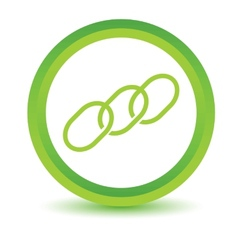 Green Chain icon vector