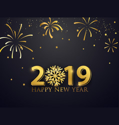happy new year 2019 greeting card with numbers vector image