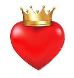Heart In Crown vector
