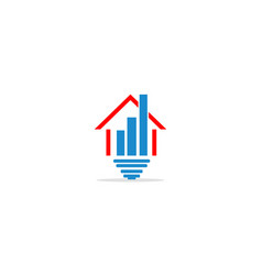 home realty investment business logo vector image