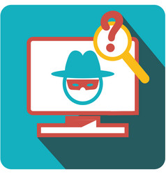Icon virus hacker vector