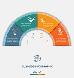 Infographic on four positions vector
