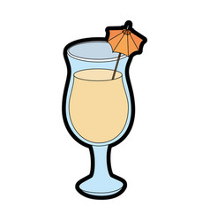 Isolated cocktail cup vector