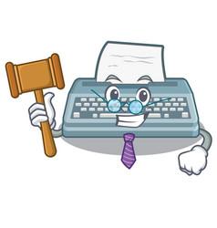 Judge typewriter in a mascot closet vector