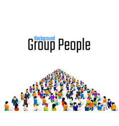 Large group people in shape a grossing vector