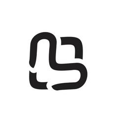 Letter l doodle design logo vector