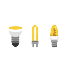 light bulb and lamp set in cartoon style main vector image