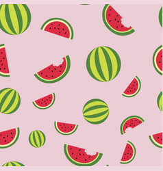 lobules watermelon and whole watermelons pattern vector image