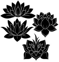 lotus set vector image