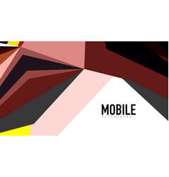 modern triangle presentation template vector image