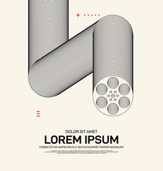 movie and film poster template design modern vector image