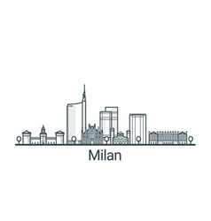 Outline milan banner vector