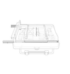 outline table saw for woodwork vector image
