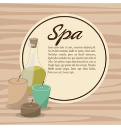 Poster spa therapy lotion oil herbal candles vector