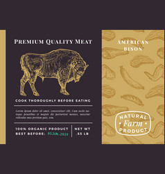 premium quality meat abstract bison vector image